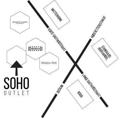 map location soho outlet store